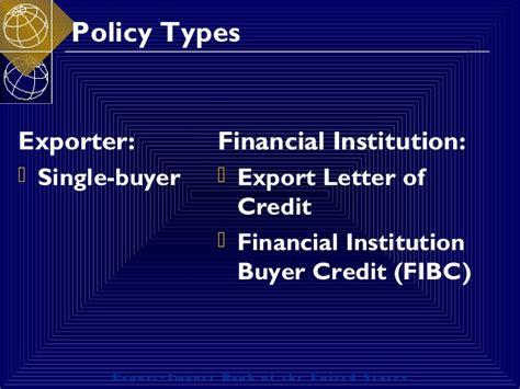 Exim Bank Letter Of Credit marsha sompayrac international finance exim bank credit