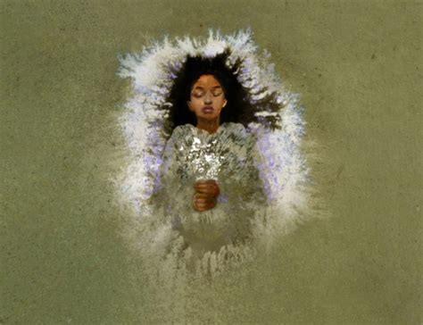 actually i painted a picture of rue peeta says how she looked after katniss had covered