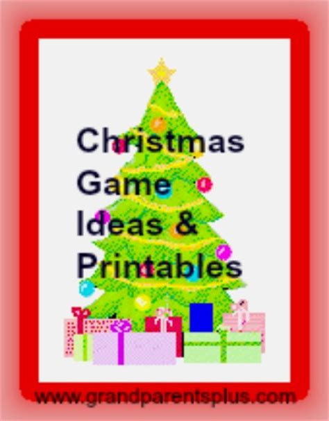 xmas games for large groups ideas printables grandparentsplus