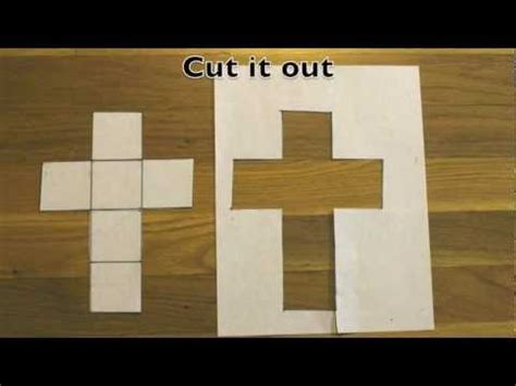 How To Make A 3d Cube On Paper - how to make a cube out of a sheet of paper
