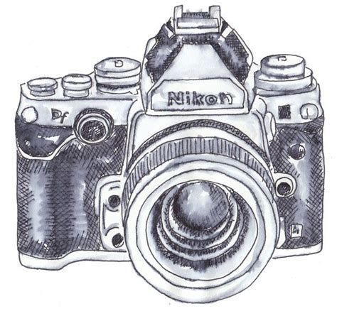 camera sketch wallpaper nikon clipart simple camera pencil and in color nikon