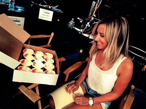 Bribes Cast And Crew With Cupcakes by Tisdale Celebrates 29th Birthday With Fianc 233