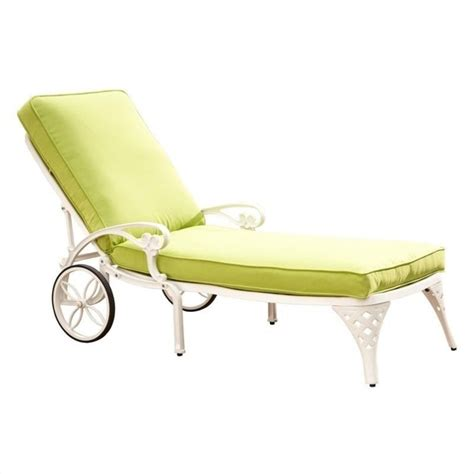 white chaise lounge chairs white chaise lounge chair green apple cushion 5552 831
