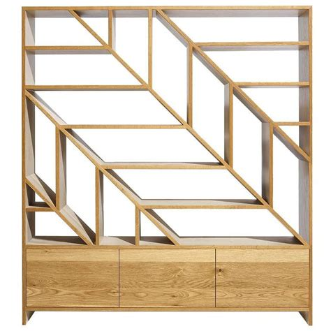 Oak Room Divider Shelves Leaf White Oak Room Divider And Display Shelving In And Bone White For Sale At 1stdibs