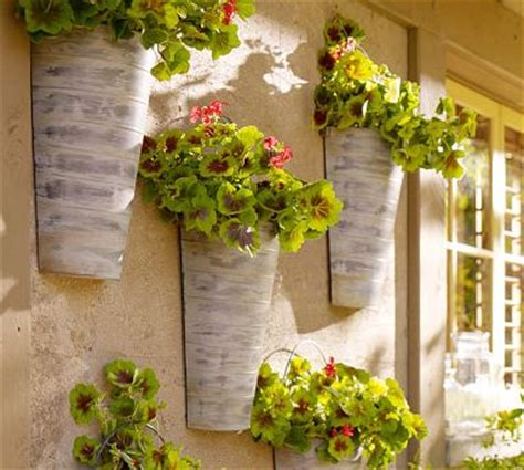 wall mount galvanized metal planter