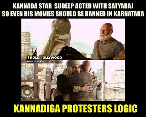 Kannada Memes - memes baahubali 2 fans troll kannada protesters over film ban