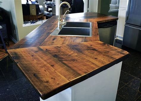 reclaimed wood countertops teak custom wood countertops butcher block kitchen