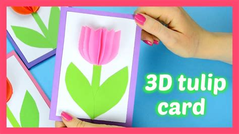 s day card ideas template how to make a tulip card or s day card