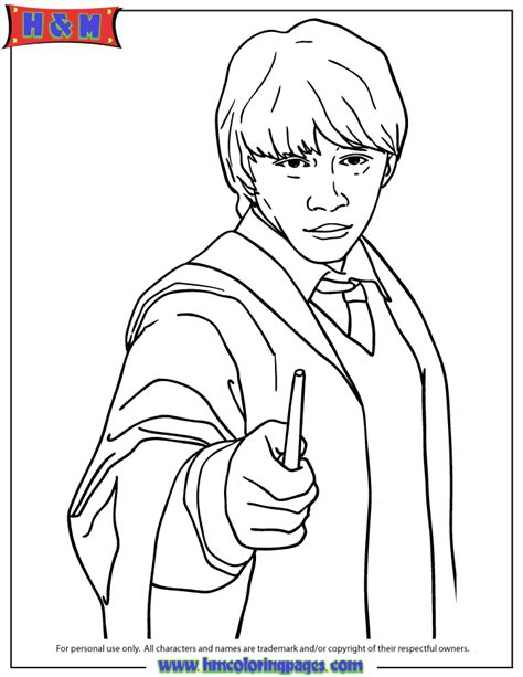 Harry Potter Coloring Pages Ron | free coloring pages of harry ron e hermione