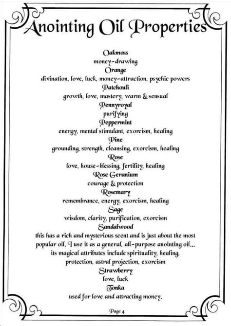 Anointing Oils - pg 4 (With images) | Oils, Herbal magic