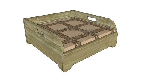 dog bed plans how to build a dog bed free outdoor plans diy shed