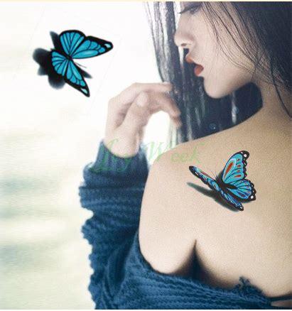 tattoo fake app temporary tattoo sticker 3d butterfly tattoo girl small