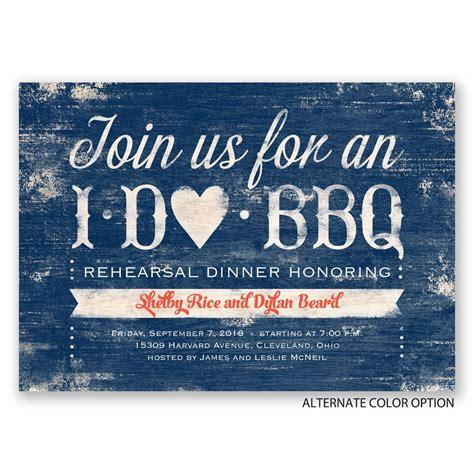 barbeque rehearsal dinner invitations i do bbq rehearsal dinner invitation invitations by