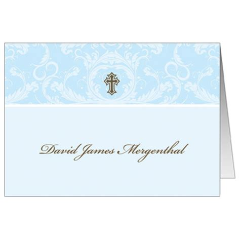 Confirmation Thank You Card Template by Blue Toile Wrapper Blue Toile Wrapper