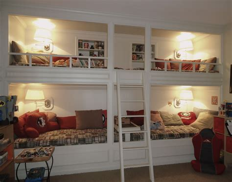 Built In Bunk Beds Plans Buy Built In Bunk Bed Ideas Plans Woodworking Project