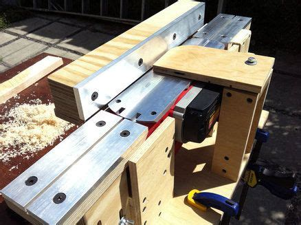 bench hand joiner power planer to bench jointer conversion home made tools and jigs pinterest