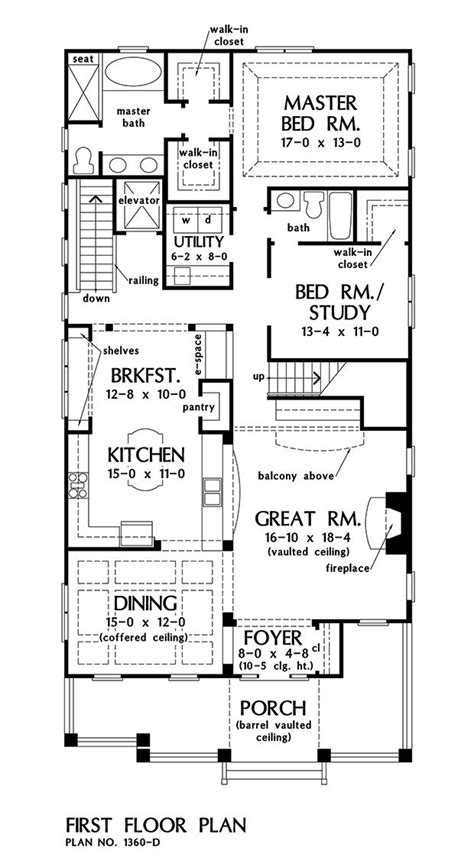 amelia floor plan first floor plan of the amelia house plan number 1360 d