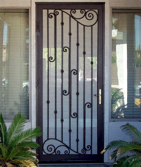 Security door design, wrought iron security doors security