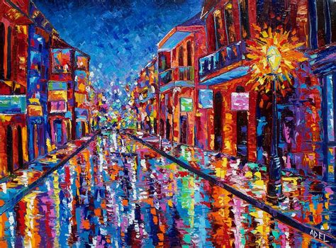 cool paintings a cool night on bourbon street by elaine adel cummins