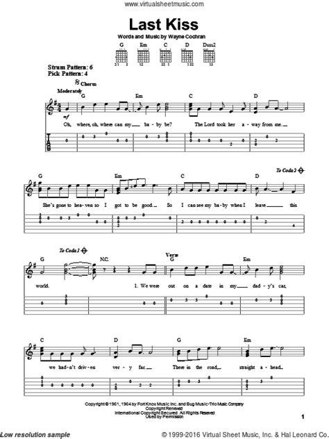 last kiss tutorial guitar wilson last kiss for guitar solo easy tablature