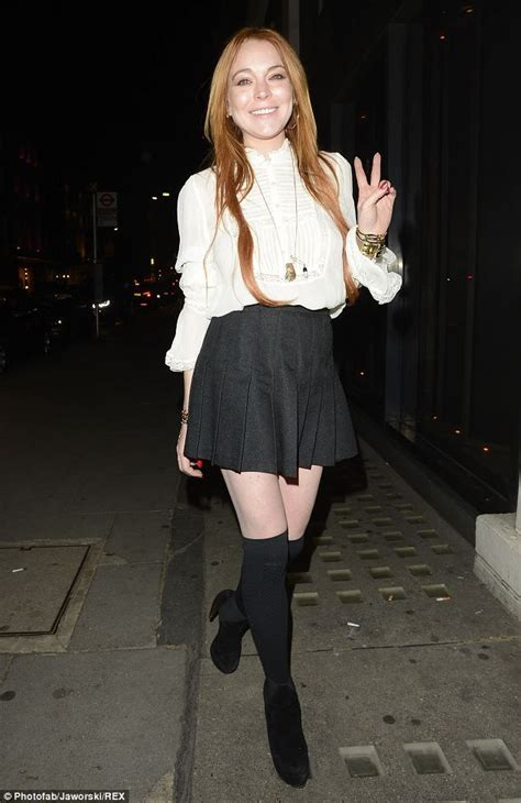Lohan Pulls Out Of Biopic by Lindsay Lohan Works Miniskirt For Another Of
