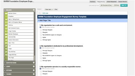 surveymonkey s employee engagement template