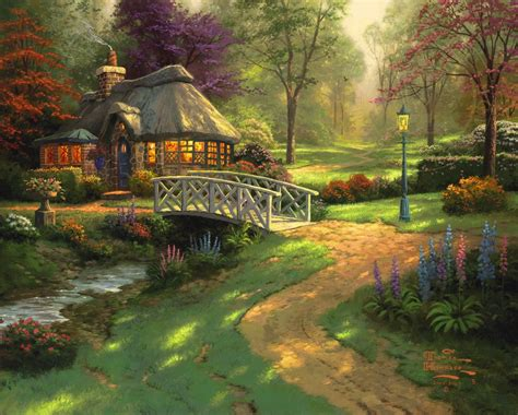 Friendship Cottage The Thomas Kinkade Company Kinkade Cottages