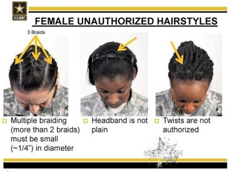 French Braid In Army | female unauthorized hairstyles and the us army sexual