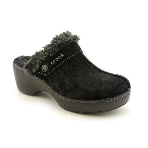 croc clogs for crocs cobbler leather clog us 6 black clogs 2939 ebay