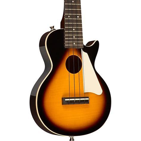 Ukulele Electric Epiphone Les Paul epiphone les paul acoustic electric concert ukulele musician s friend
