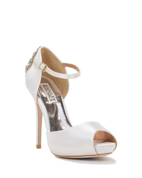 badgley mischka gene peep toe ankle evening shoe in