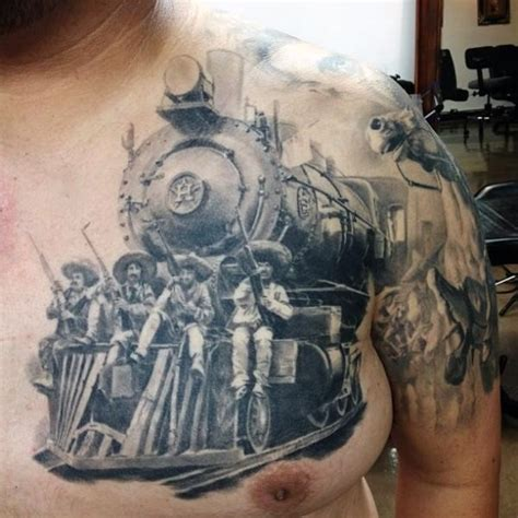 old western tattoo designs magnificent painted detailed western with