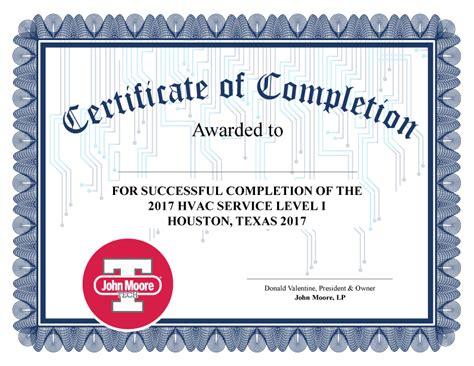 hvac design certificate john moore tech hvac certifications