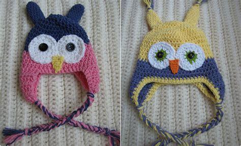 free crochet pattern owl motif easy crochet toddler owl hat free pattern