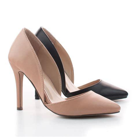 pointy high heels mavis11 pointy toe d orsay classic stiletto high heel