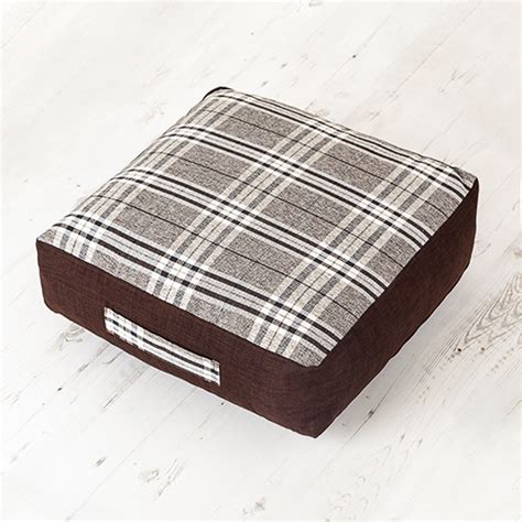 large floor cushions for seating grey tartan woven check large floor cushion foam filled