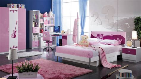 bedroom set for teens surprising teen bedroom sets with modern bed wardrobe study desk pink fur rug for teen room