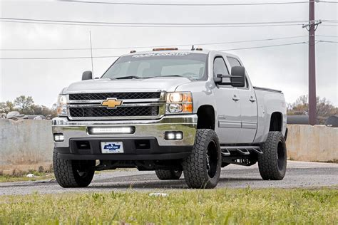 2010 chevy silverado lights 2 inch square cree led fog light kit for 11 14 chevrolet
