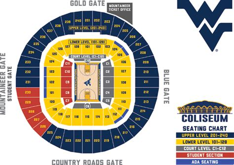 wvu seating chart ticket office seating charts