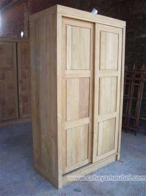 Lemari Pakaian Hotel lemari pakaian 2 pintu minimalis menggunakan kayu jati holidays oo