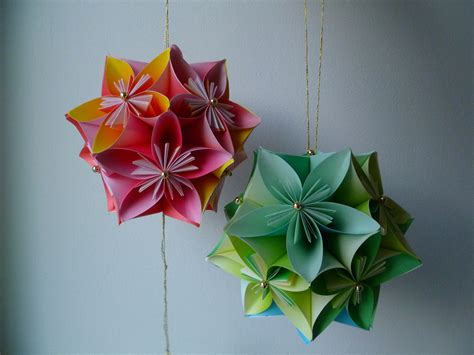Origami Flower Kusudama - kusudama threads of my