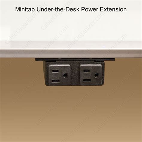 under desk power strip minitap under the desk power extension cableorganizer com