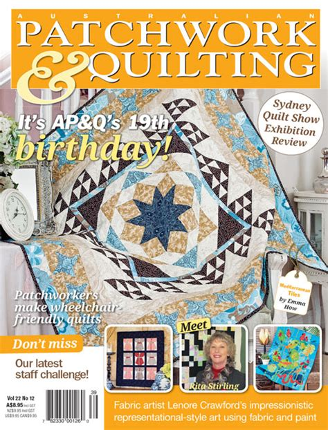 Australian Patchwork And Quilting Magazine Website - australian patchwork quilting magshop