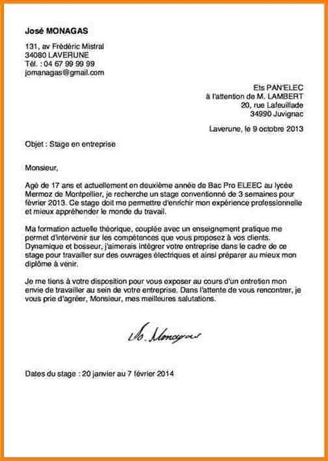 Stage Assp Lettre De Motivation 6 Lettre De Motivation Stage Bac Pro Assp Modele Lettre