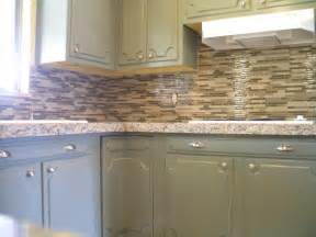 kitchen granite tile countertop and glass backsplash