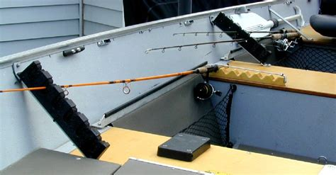 mounting rod holders on bass boat how to build a boat rack here seen boat plan