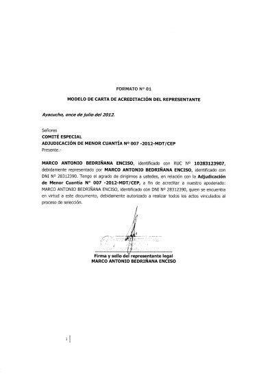 formato de jurisdiccion voluntaria para acreditar formato n 176 01 modelo de carta de acreditaci 211 n seace
