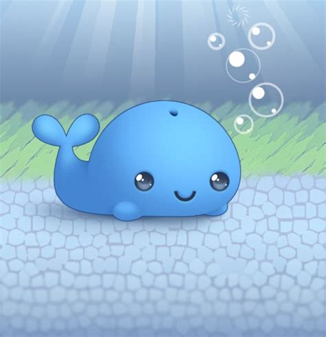 Baby Japan Blue a preciously kawaii blue whale animals whales graphic keeping it kawaii