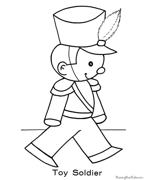 Toy Soldier Christmas Coloring Pages Coloring Pages For Soldiers