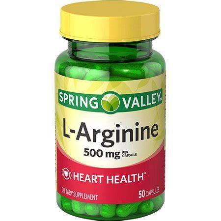 spring valley  arginine dietary supplement capsules